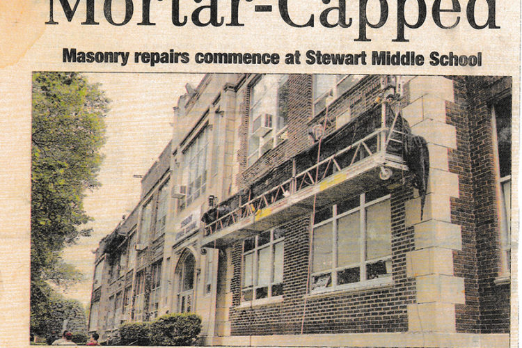Mortar-Capped – Masonry Repairs at Stewart Middle School